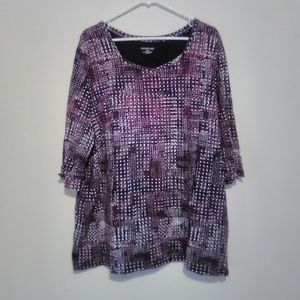 Catherine's top size 1x 18/20 black purple